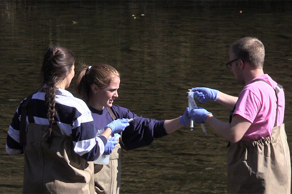 Students Collect Water Samples