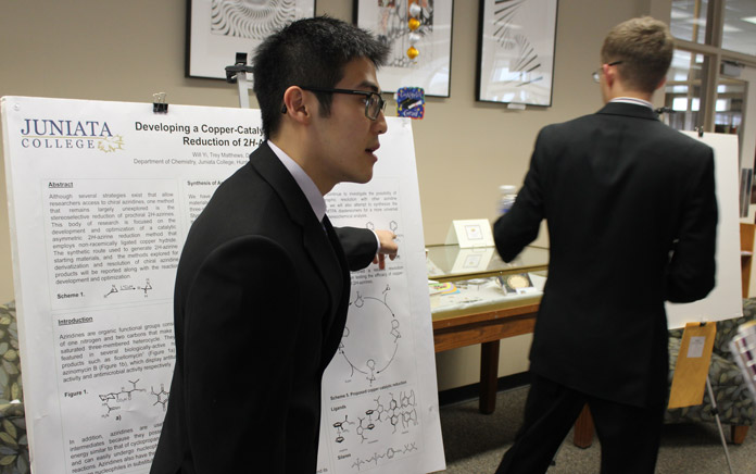 Students present their research during Liberal Arts Symposium