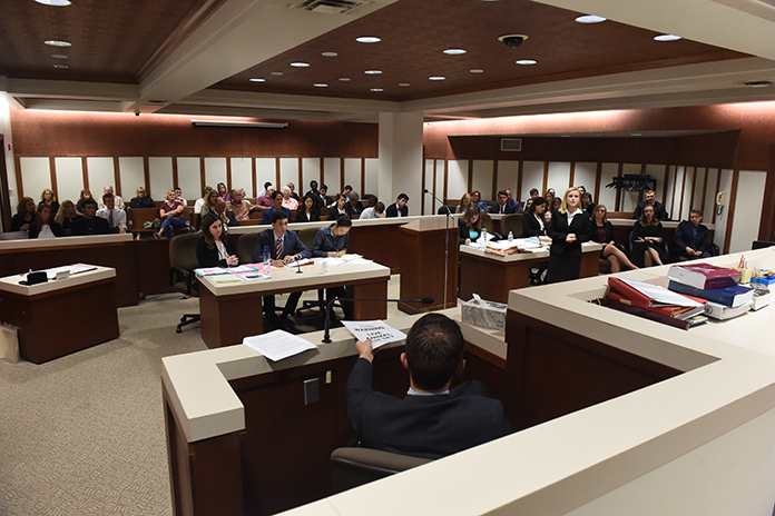 Juniata College, under the coaching of Dave Andrews, traveled to Blair County Courthouse to participate in a mock trial.