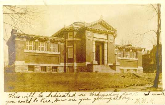 Juniata College Carnegie Library in 1907