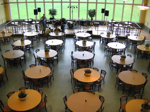 Event setup in Baker Refectory juniata college