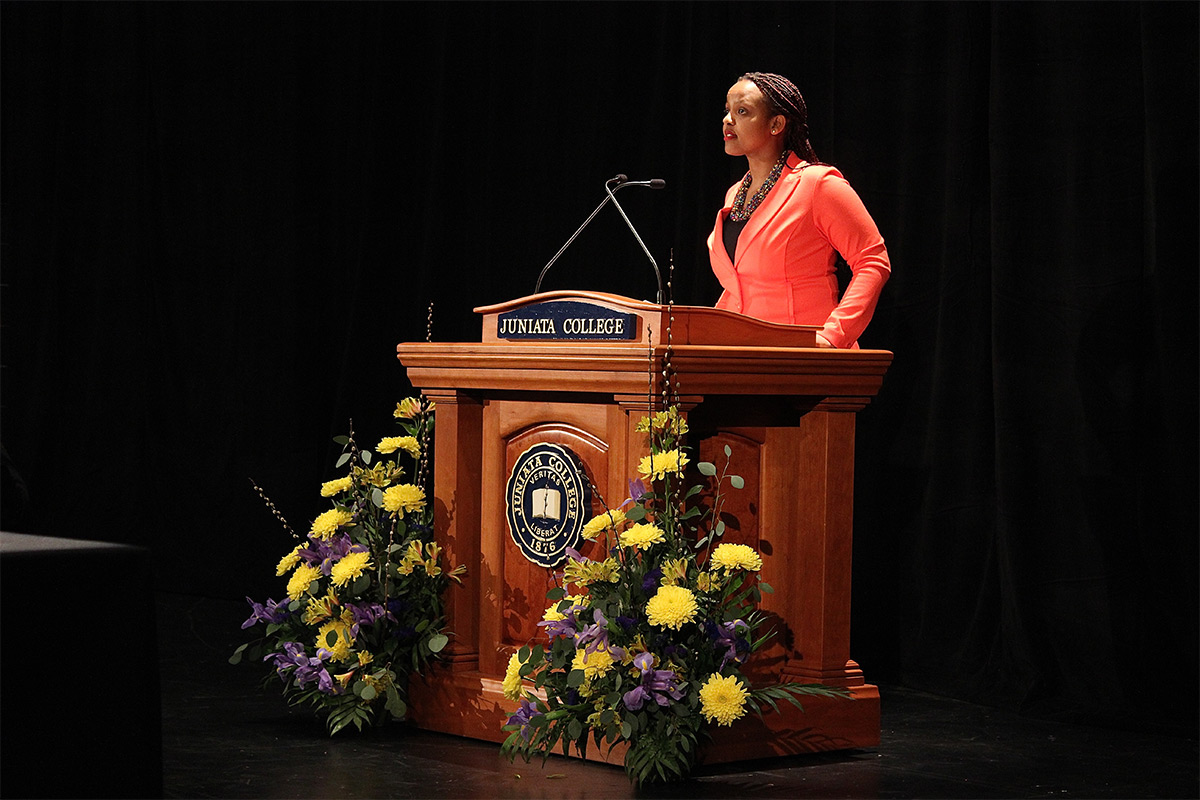 Liliane Presents at the Bailey Oratorical