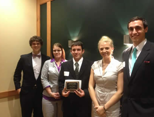 Juniata Students win the the Gill/McDaniel Case Competition