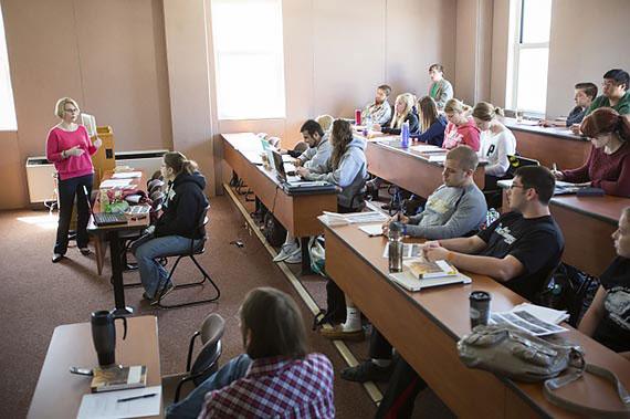 Juniata College Professor Judith Benz teaching World Language and Philosophy