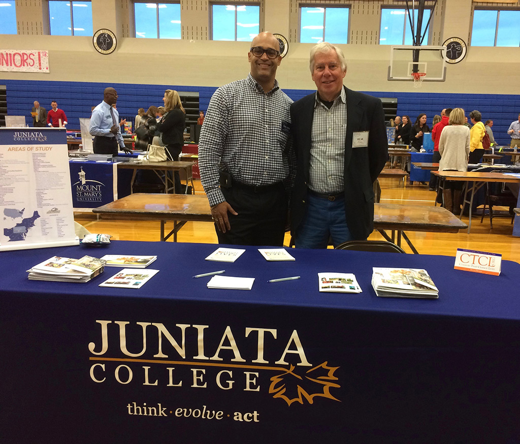 DeLane Crutcher & Bill Chew Juniata College Fair