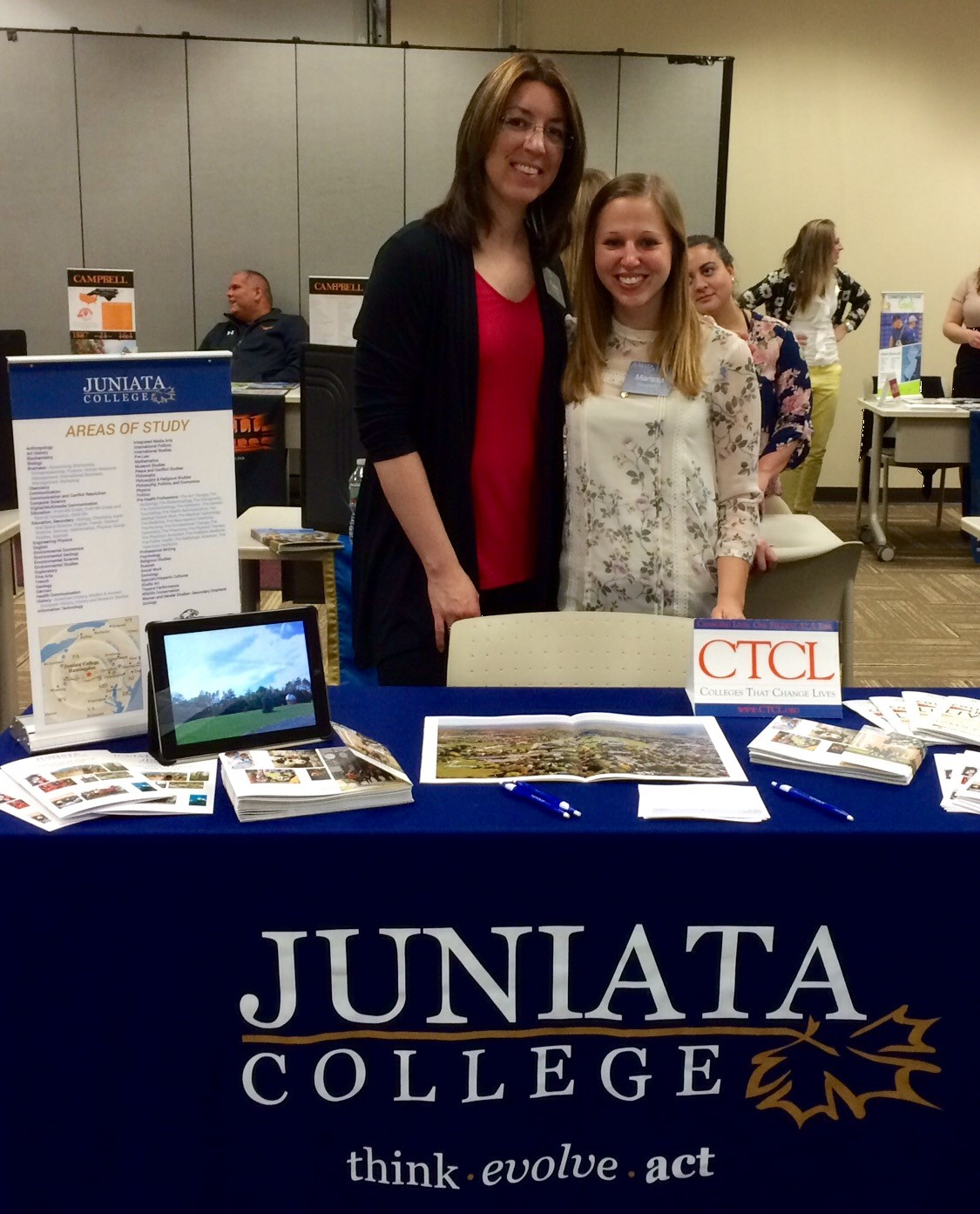 Karen Beck and Marissa Dougherty College Fair