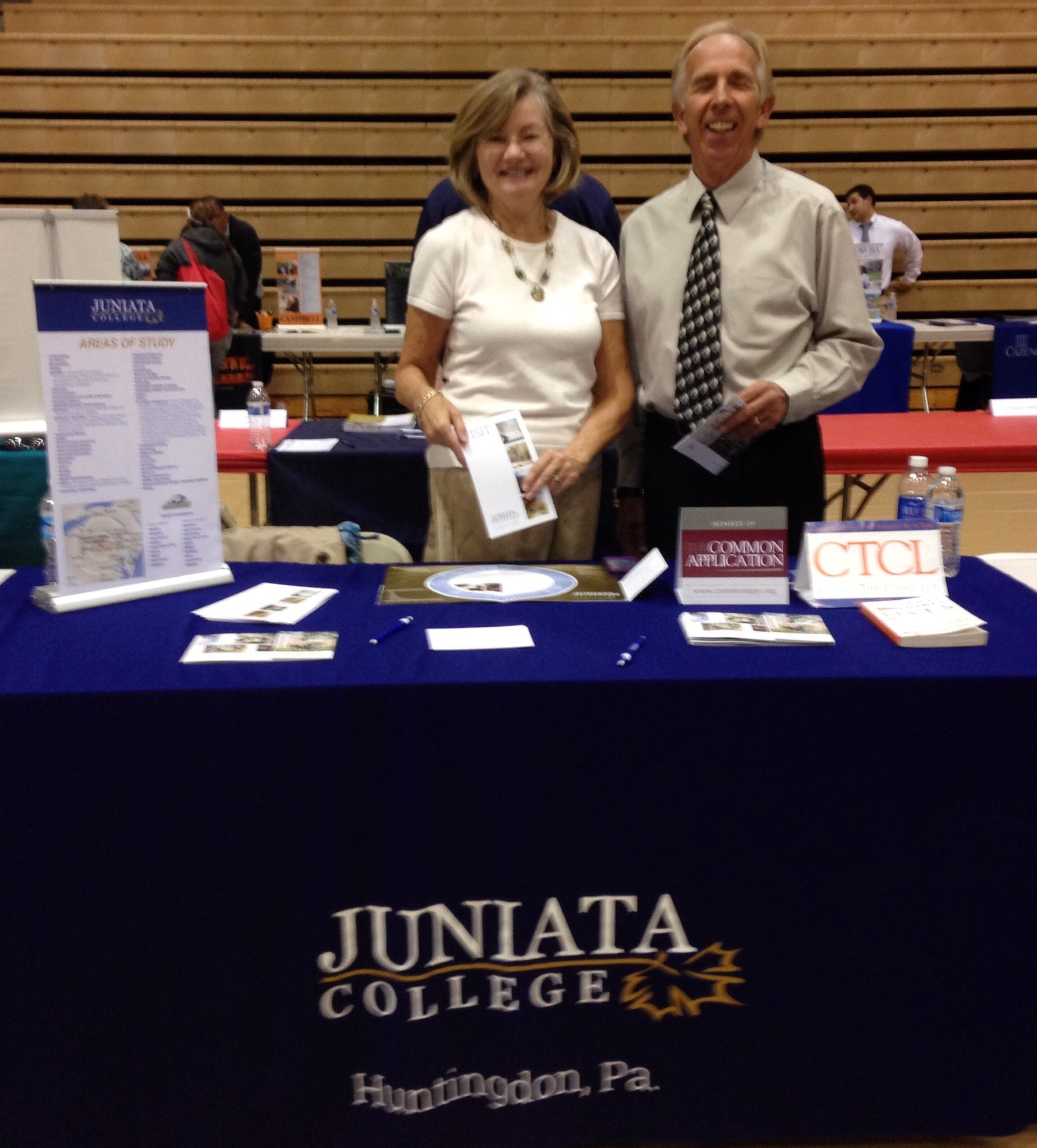 Richard Paulhamus and Laurie Trexler College Fair