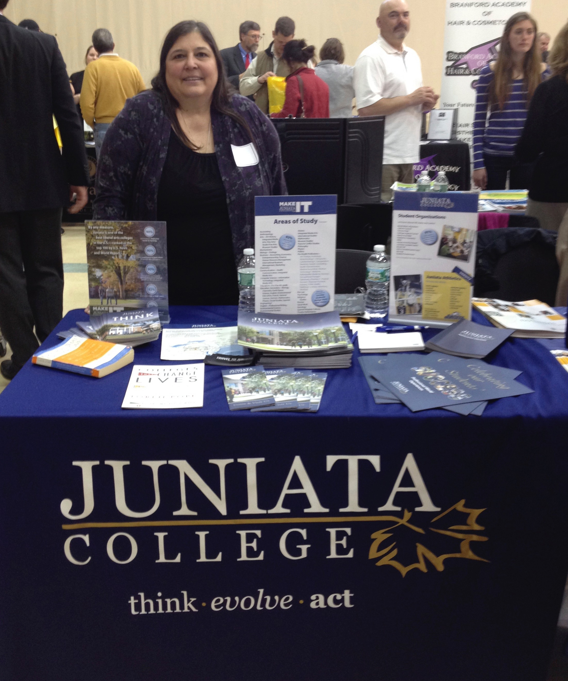 Admission Ambassadors representing Juniata College at a College Fair 9