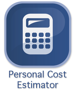 Graphic and link to Personal Cost Calculator