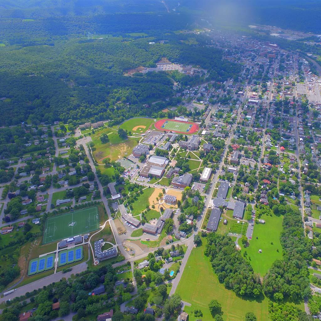 Juniata College aerial