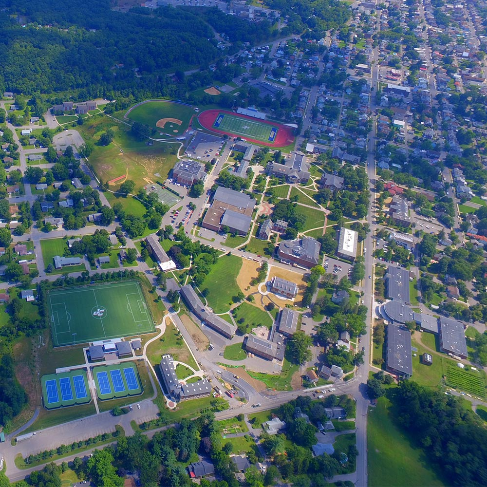 Juniata College aerial photo