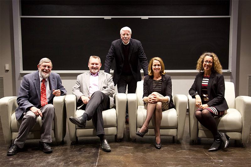 Alumni panel at Believe kickoff event