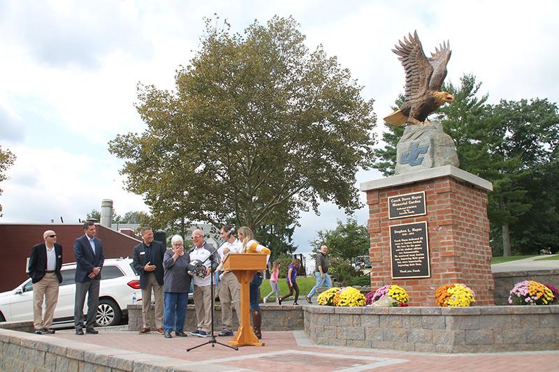 Coach Hayes Memorial dedication