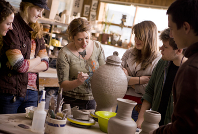Pottery class at Juniata College