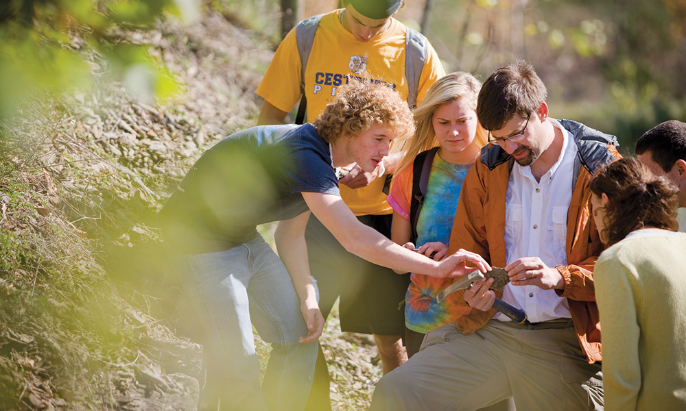Students are valued contributors to research conducted by Ryan Mathur '96, professor of geology, and the benefit is experienced by both their peers and professionals in the field.