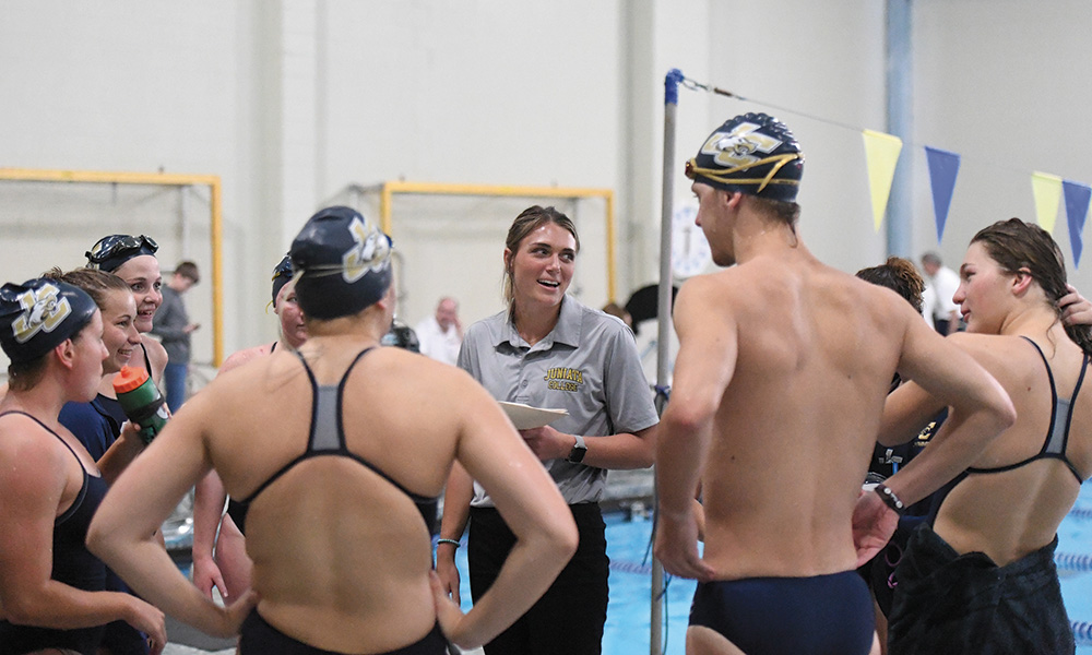 Head swim coach and aquatics director Devon McFadden says her student athletes have a lot of motivation to achieve success in the classroom and take their academics very seriously.