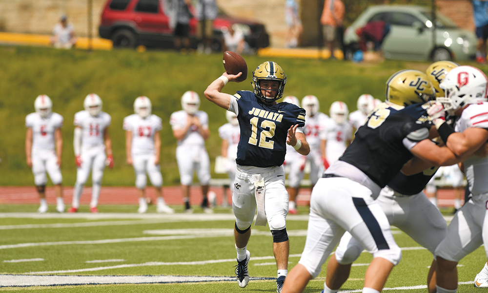 """Austin Montgomery '20 of Bedford, Pa., was named among the National Football Foundation's William V. Campbell Trophy Semifinalists, an award also known as the """"Academic Heisman."""""""