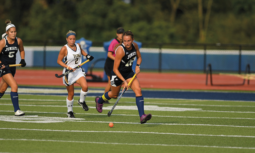 A member of the field hockey team, Madison Miller '20, of York, Pa., finds her commitment to both academics and athletics very rewarding and has been named to the Landmark All-Conference First Team.
