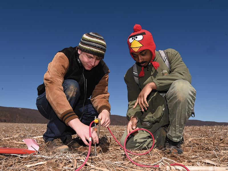 Sam Zucker and Ian Taylor-Benjamin installing electrodes