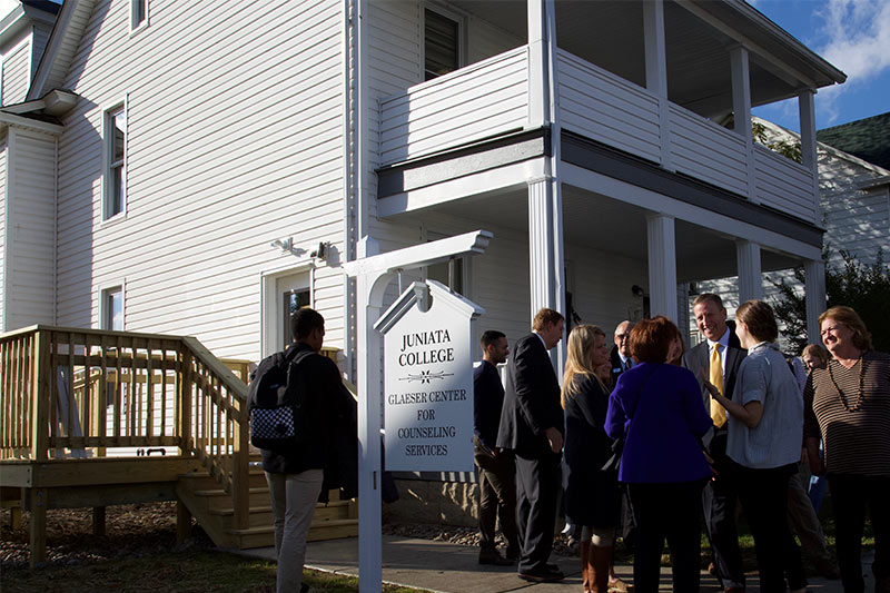 Dedication of the Glaeser Center for Counseling Services 030