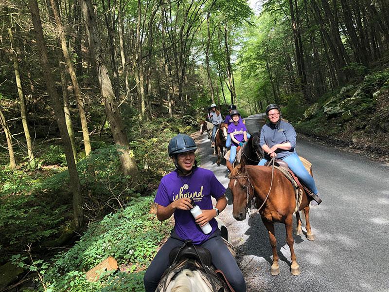 Inbound equestrian