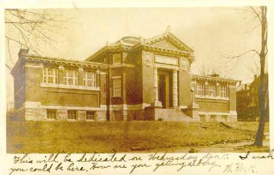 Juniata College Carnegie Library in 1907