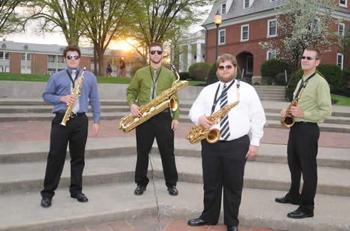 Saxophone quartet, spring 2008