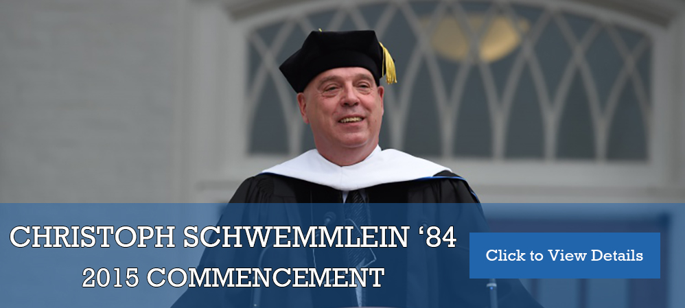 Schwemmelin Commencement Speech