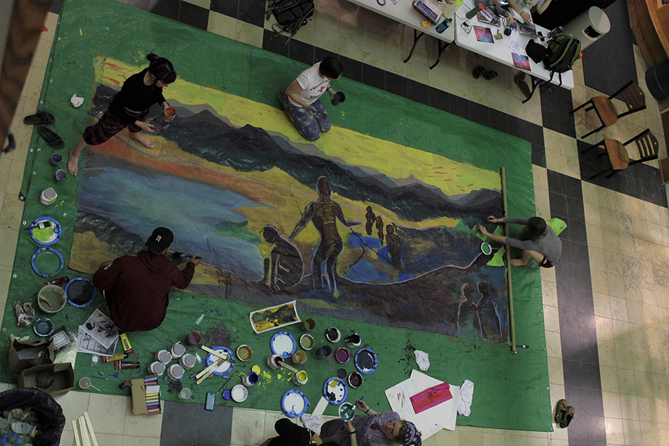 Geonocide Awareness & Action Week mural painting