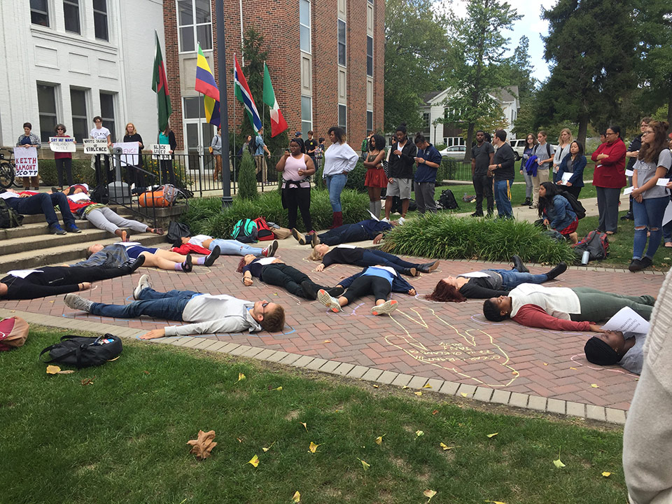 PACS participates in lie-in for Black Lives Matter