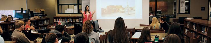 Language in Motion Yasmine Allaya teaching at Juniata College